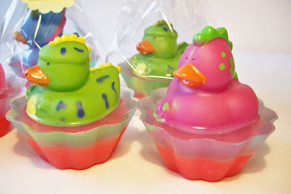 Children S Soap Dinosaur Ducky Cupcake Soap Gifts By