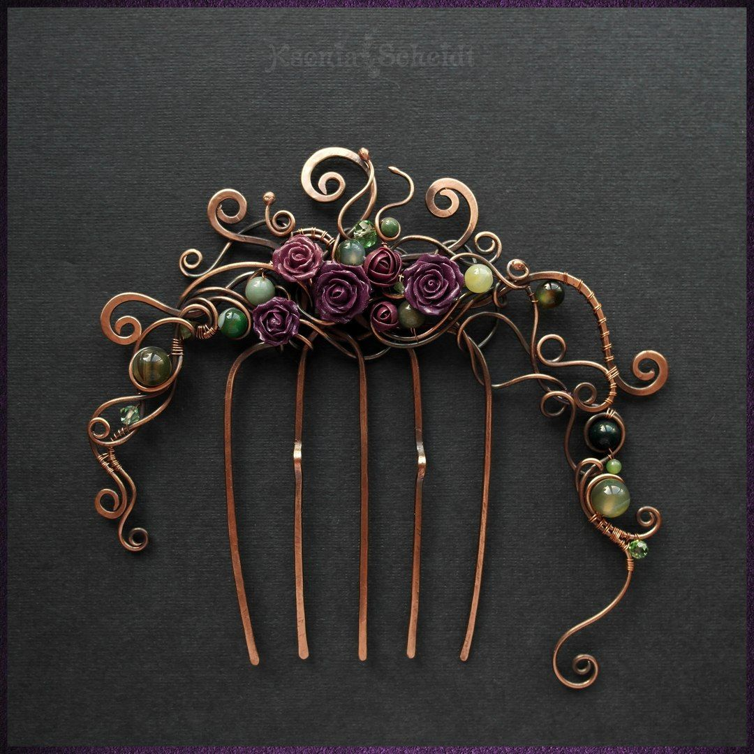 Гильдия Мастеров wire wrap/ Kriger & Сompany | hair pins | Pinterest ...