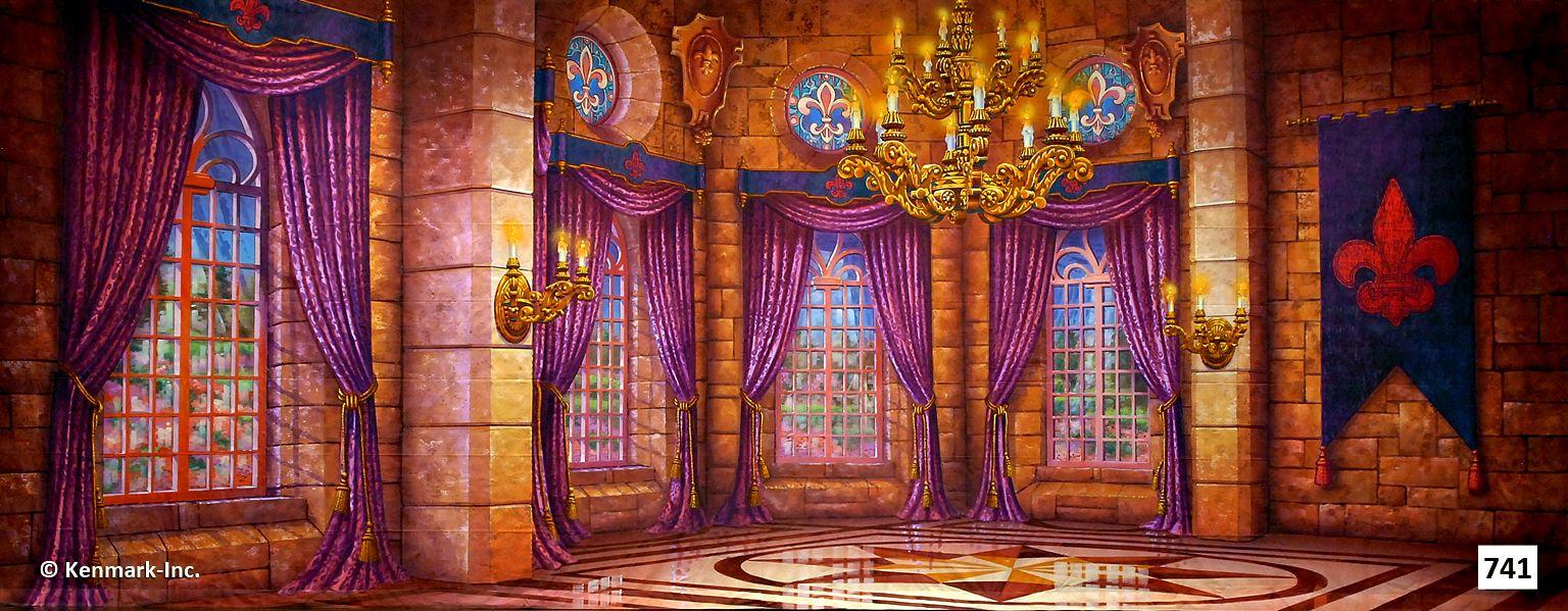 Castle Interior Design Set 741d castle ballroom  theatrical backdrop rentalskenmark