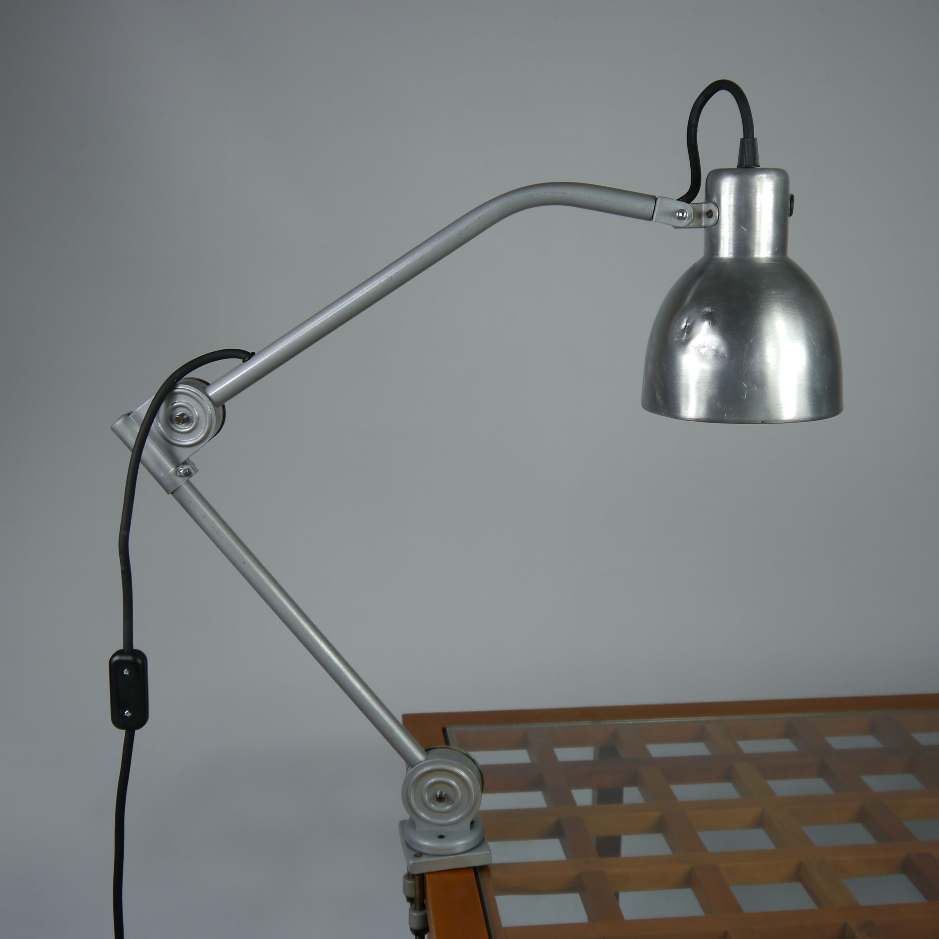 Machinist's desk lamp //www.sroka.uk.com/machinist-s-desk-lamp ... on grey walls with fireplace, grey walls with design, grey walls with wood furniture, grey walls with art ideas,