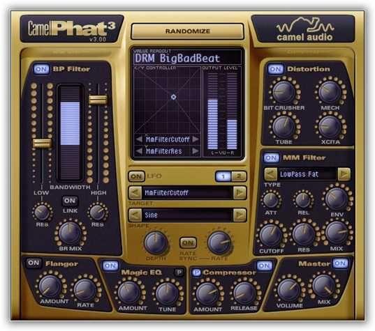 CamelPhat AU VST v3 4x PC and MAC, VST, PC, MAC, CamelPhat