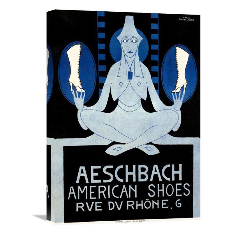 Global Gallery Aeschbach American Shoes Canvas Wall Art - GCS-294623-22-142