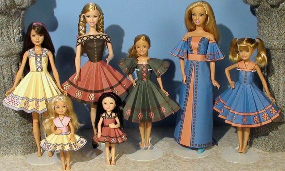 Heidi Printable Doll Clothes