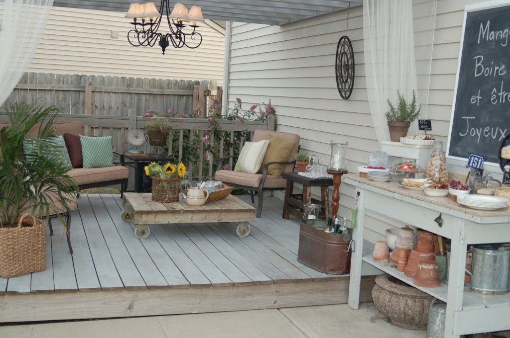Mom S Night With A French Twist Patio Patio Decor Pallet Furniture Outdoor