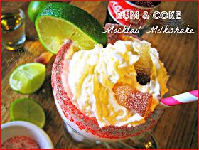 Rum and Cole Mocktail Milkshake Recipe, You don't need alcohol to enjoy this sweet summer drink! but if you must...Have fun