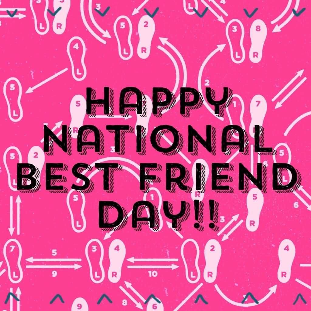 Happy National Best Friends Day Greeting Card Best Friend Day