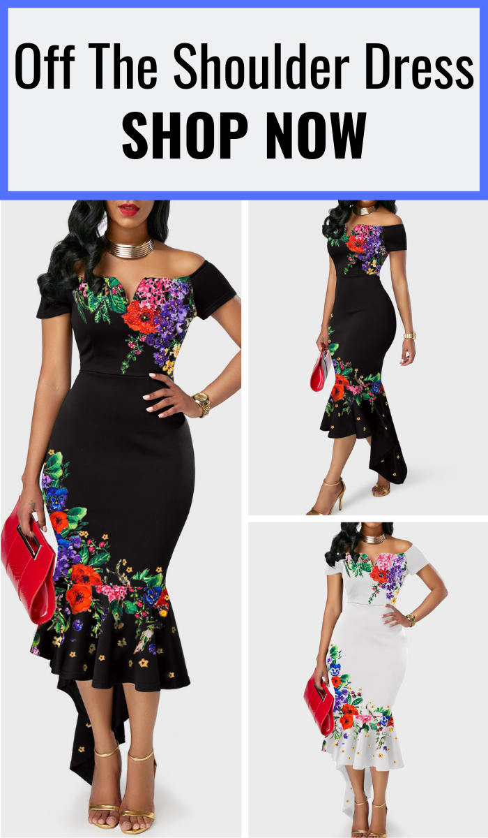 b5482f589c1 This formal off shoulder bodycon women s dress makes a great fashion idea  for summer to wear