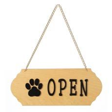I love this simple Open/Closed sign! $13 | Pet signs, Dog ...