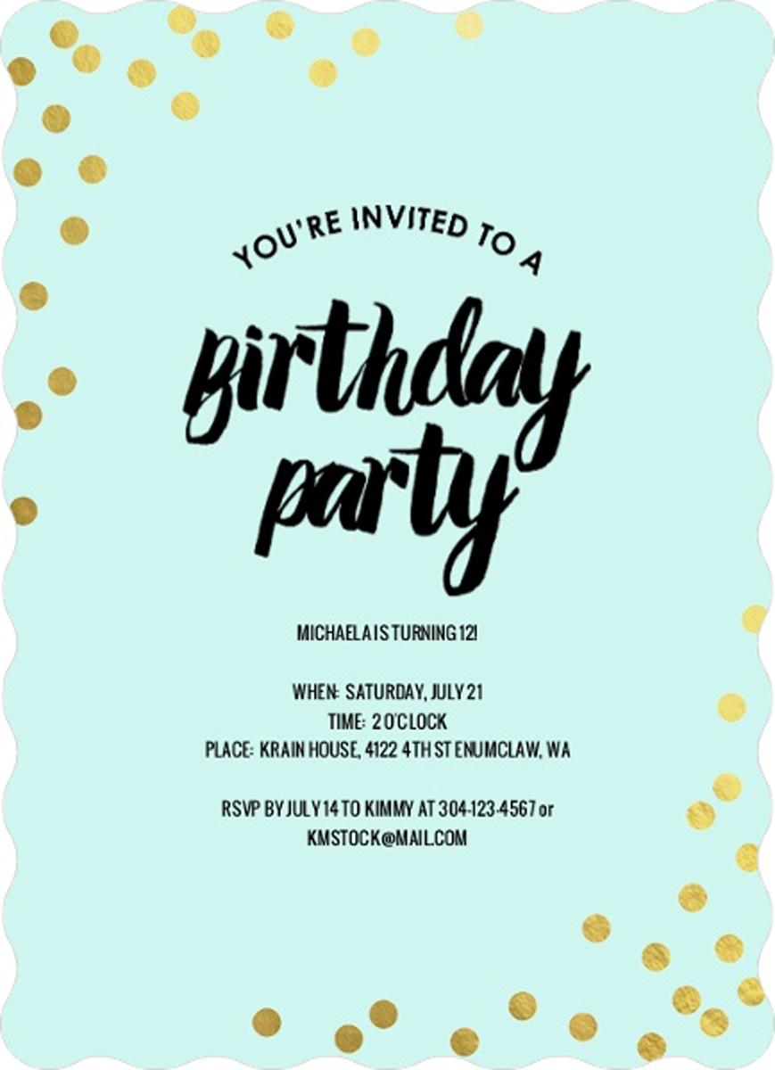 Pin On Teen Birthday Invitations Ideas