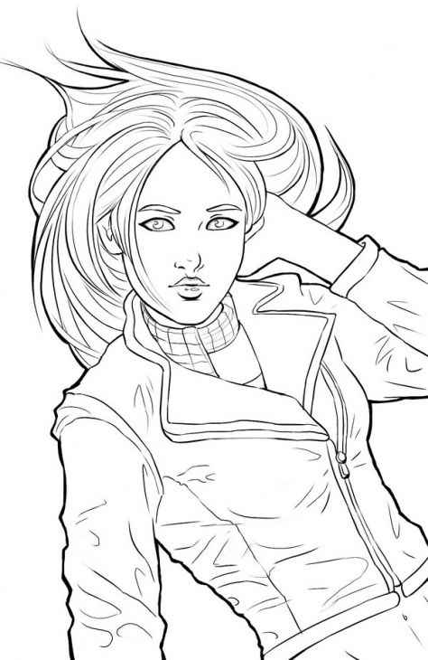 doctor who coloring pages amy pond Commission Amy Pond From Doctor Who Coloring Page By Acaciathorn  doctor who coloring pages amy pond