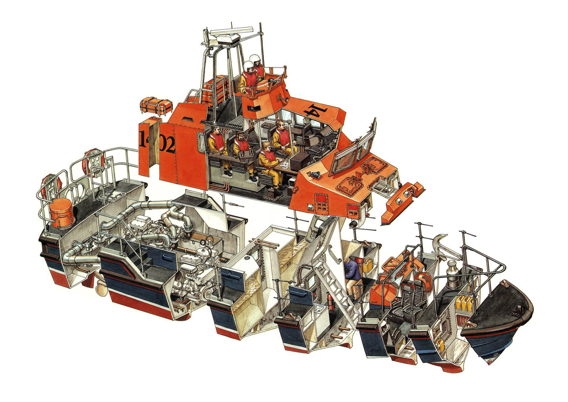 hans jenssen offshore lifeboat cutaway | Ship Schematics