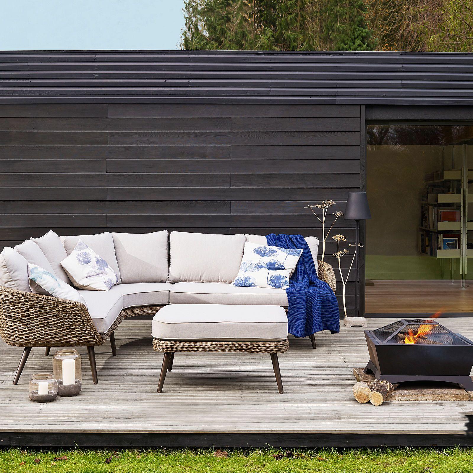 John Lewis Partners Carnaby Outdoor Corner Sofa And Footstool Set Corner Sofa And Footstool Outdoor Corner Sofa