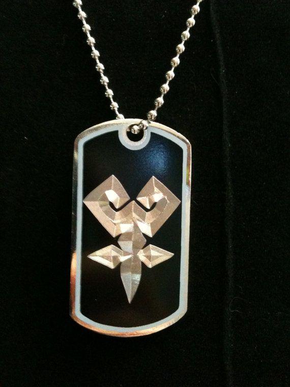 Kingdom Hearts Keyblade Master Symbol Dog Tag Necklace On Etsy