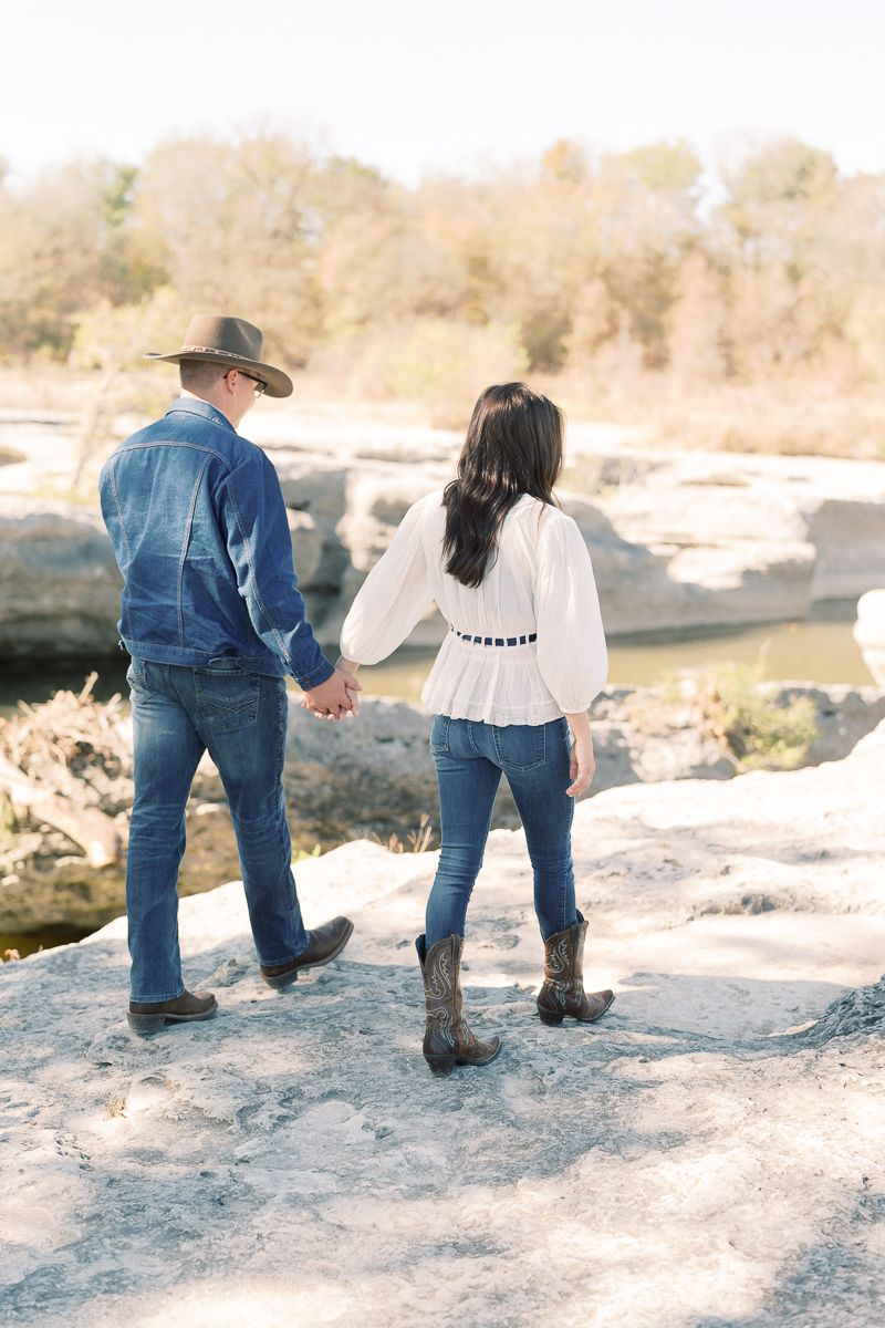 Fall McKinney Falls Engagement Session – Holly Marie Photography