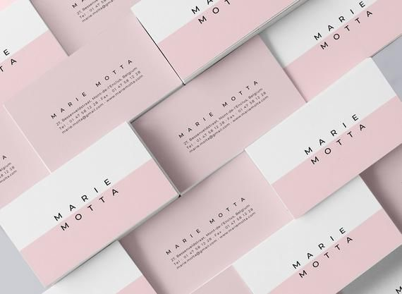 Editable Pink Business Card Business Card Templates Clean Business Card Minim Pink Business Card Customizable Business Cards Templates Glossy Business Cards