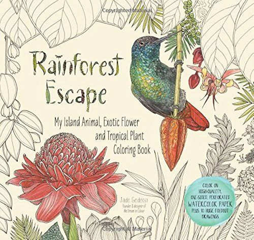 Rainforest Escape My Island Animal Exotic Flower And Tropical Plant Color Book By Jade