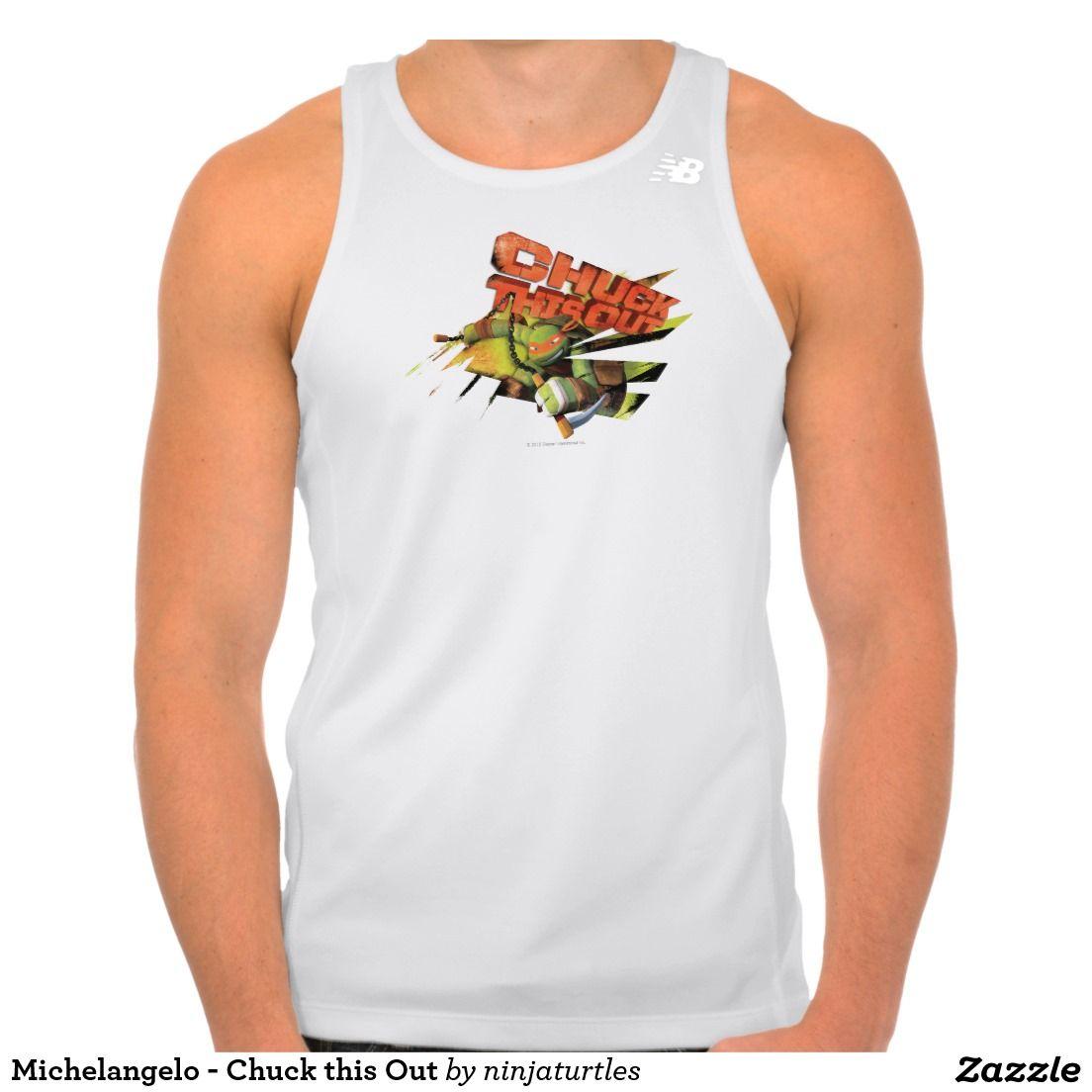 Michelangelo - Chuck this Out Tee Shirt. Producto disponible en tienda Zazzle. Vestuario, moda. Product available in Zazzle store. Fashion wardrobe. Regalos, Gifts. #camiseta #tshirt