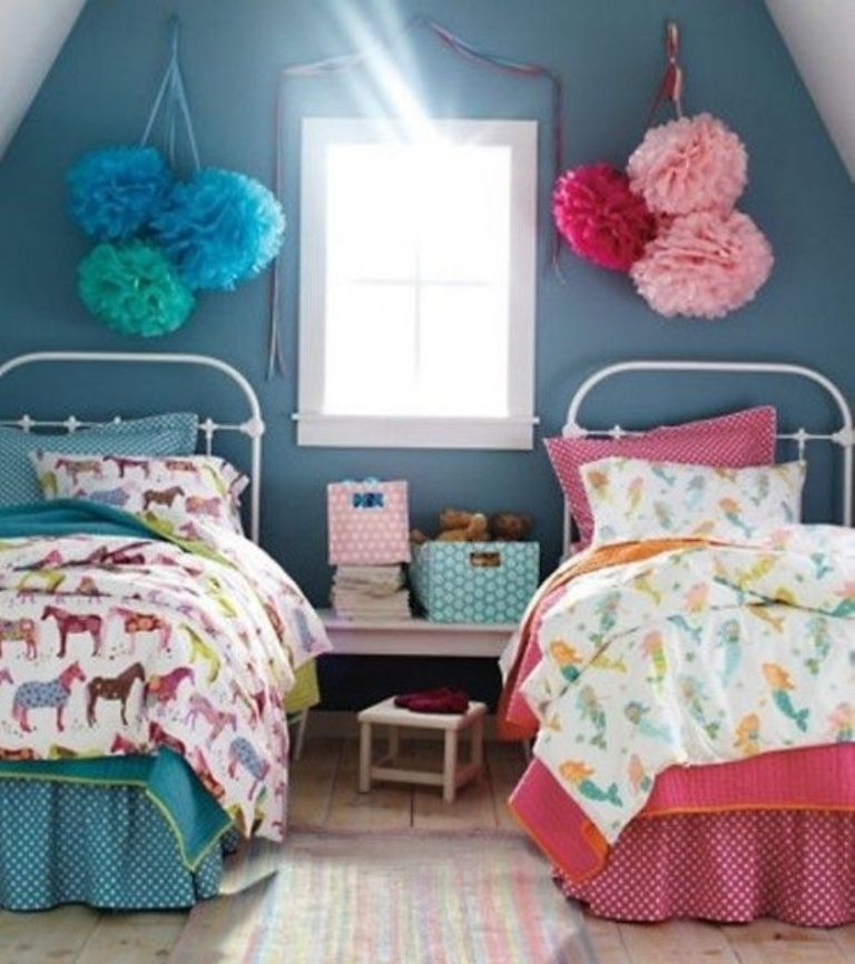 Best Beautiful Blue And Pink Shared Bedroom Shared Girls 400 x 300