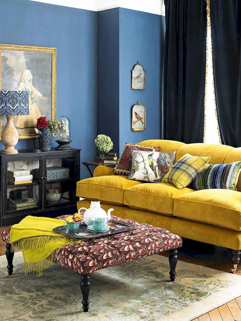 50 Inspiring Yellow Sofas For Living Room Decor Ideas Blue Living Room Yellow Living Room Yellow Walls Living Room