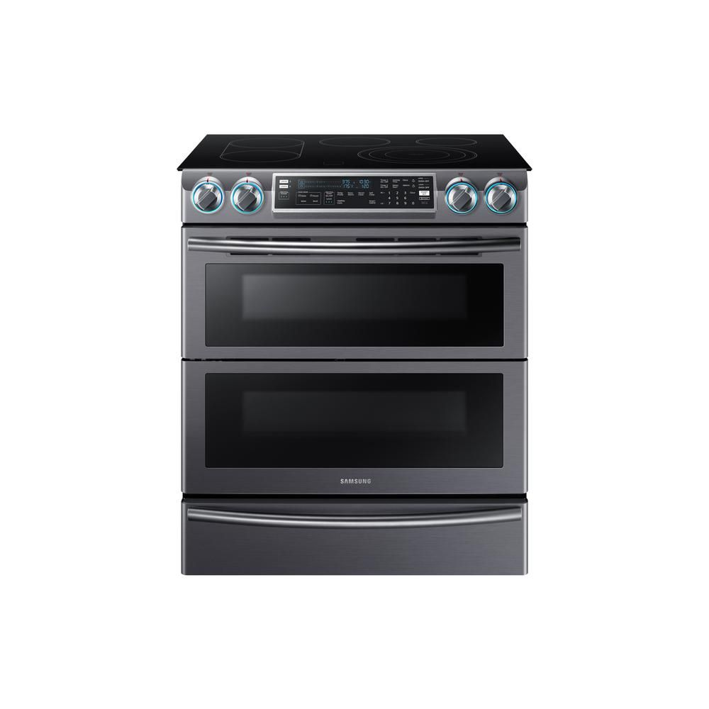 Samsung Flex Duo 5 8 cu  ft  Slide-In Double Oven Electric