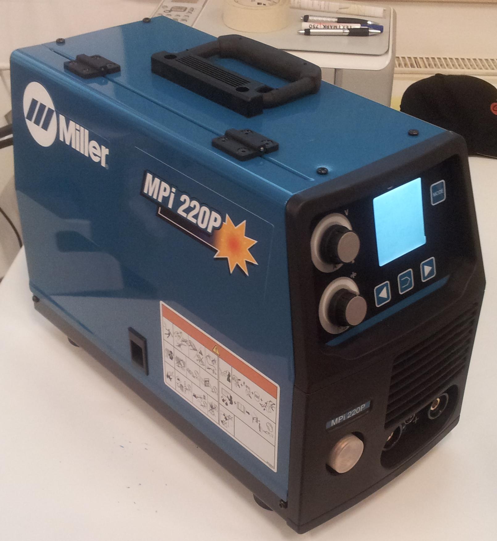 hight resolution of  welding miller mpi 220p