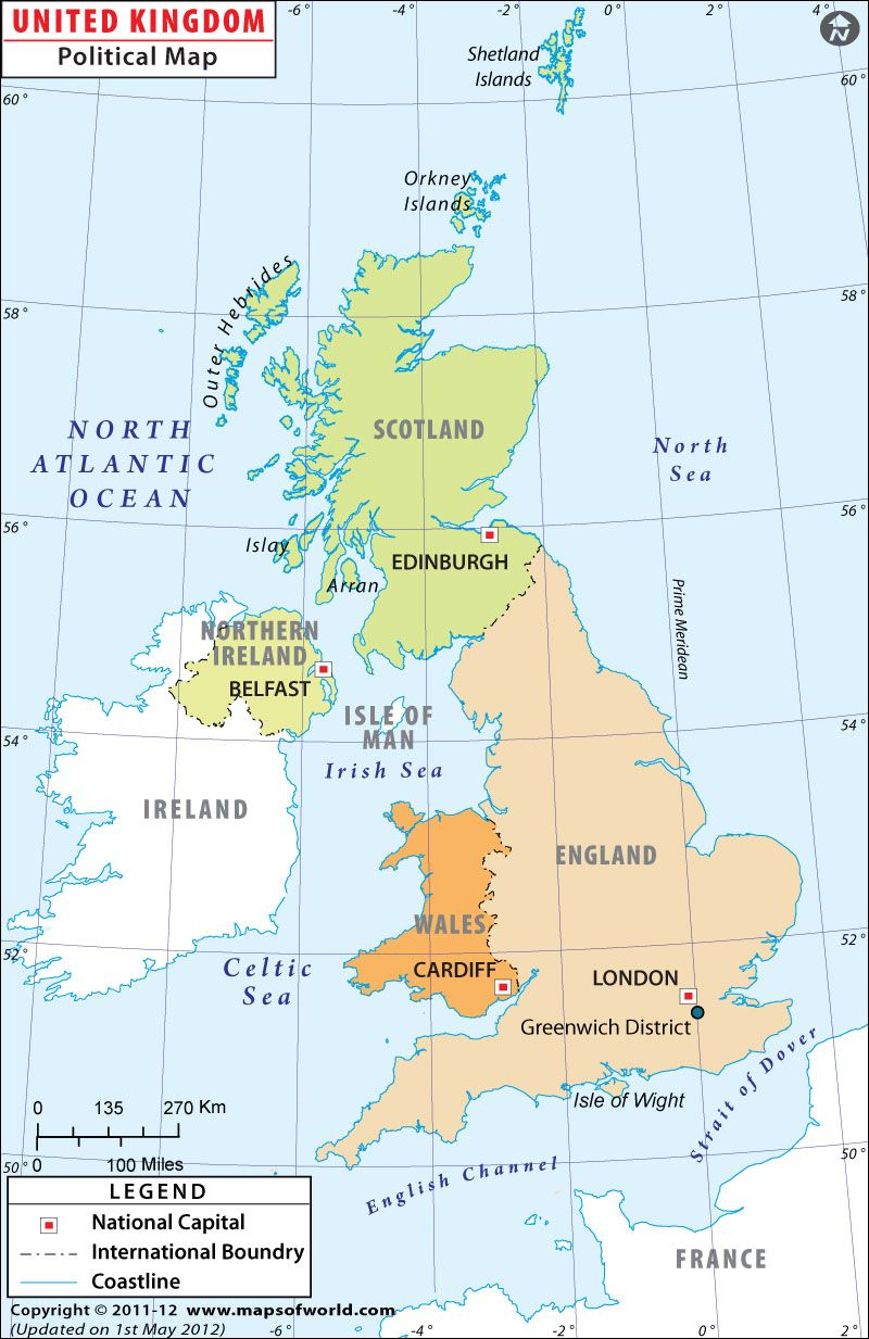 Political Map Of Uk.Uk Political Map Maps Globes Map United Kingdom Country Maps