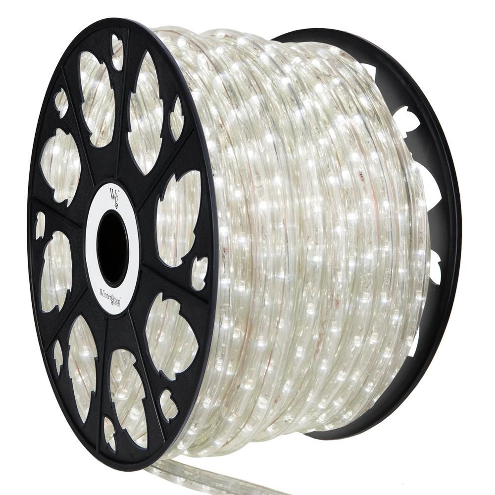 Wintergreen Lighting 150 Ft 1800 Light Led Cool White Rope Light Kit Led Rope Lights Outdoor Rope Lights Outdoor Light Bulbs
