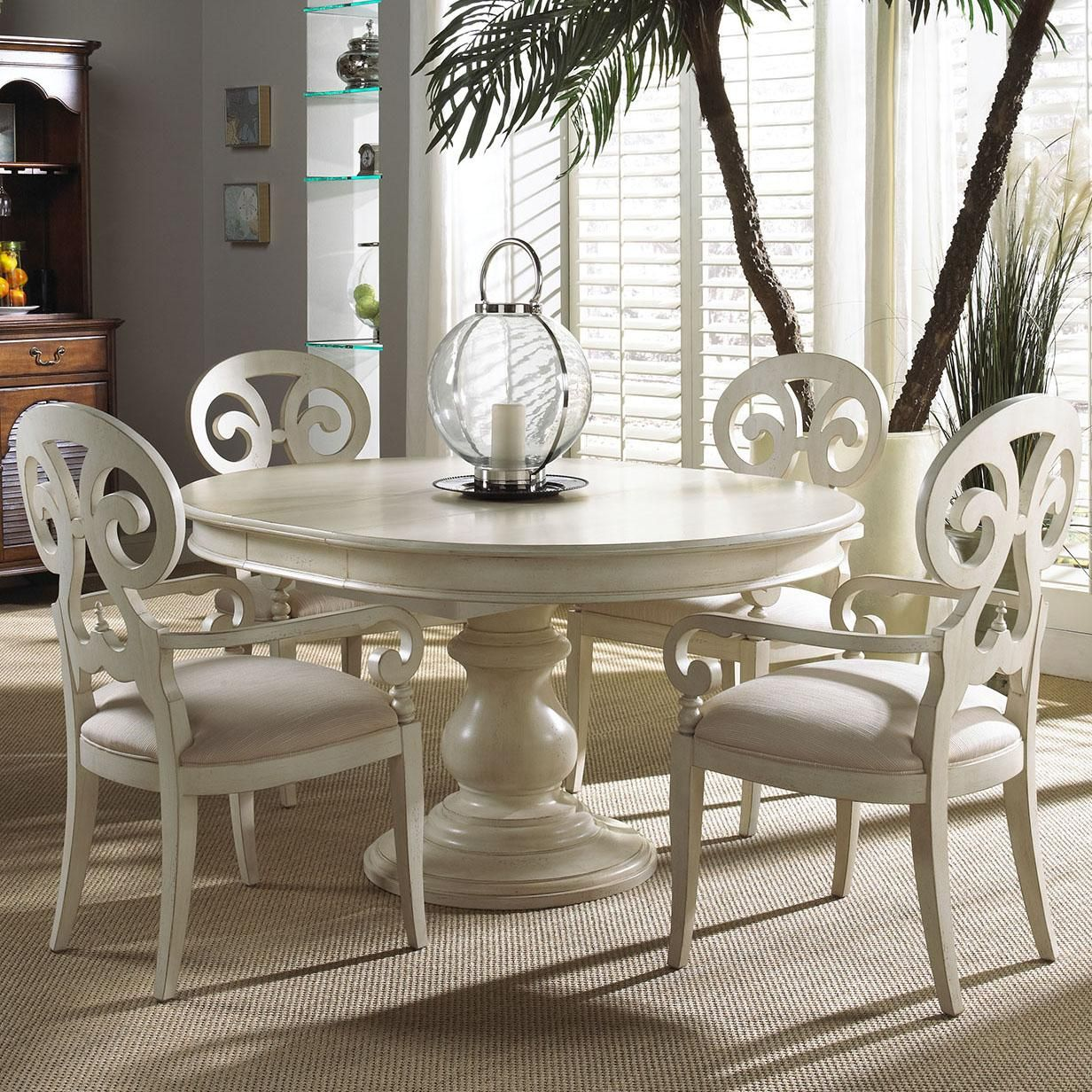 Summer Home 5 Piece Set By Fine Furniture Design Round Dining Room Sets Round Dining Room Round Pedestal Dining Table