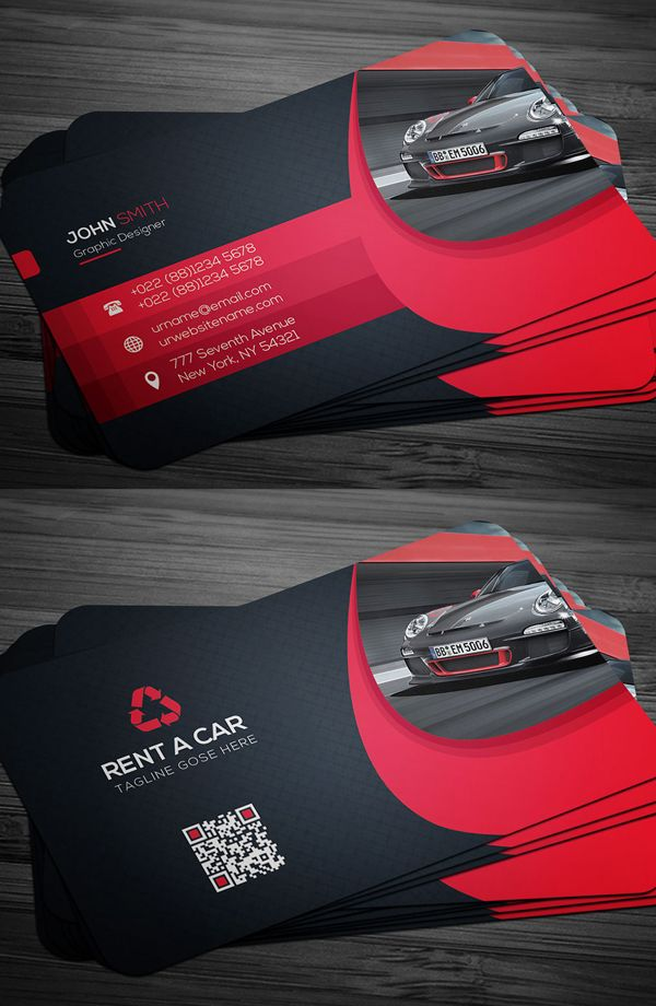 Rent a car business card template running a 3d printing business print ready business cards available in fully editable customizable and well organized photoshop psd files all these business card templates are perfect reheart Gallery