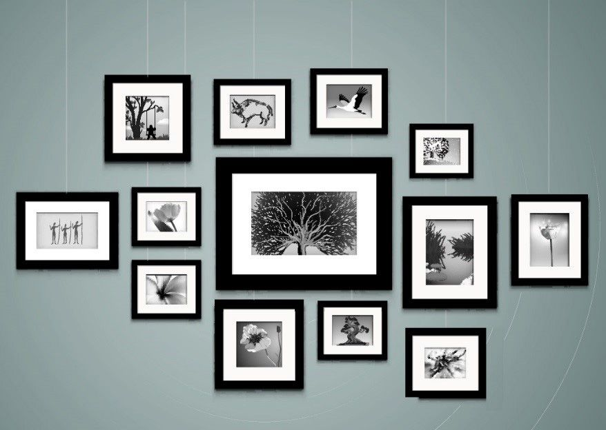 Hanging Photo Frames Wall Art - Inarace.Net