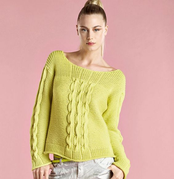 pull torsade femme tricot