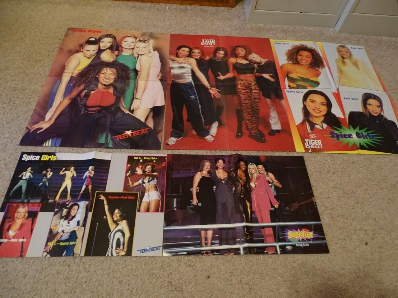 Spice Girls teen magazine posters clipping lot 2 Bop Tiger Beat Free Shipping | eBay