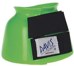 geen horse bell boots | davis horse bell boots boot neon green large I HAVE 2 HORSES WITH EGG BAR SHOES...LOVE FOR MY HORSES TO WEAR THESE WHILE NOT RUNNING TO PROTECT THEM FROM NICKS WHEN BEDDING DOWN.