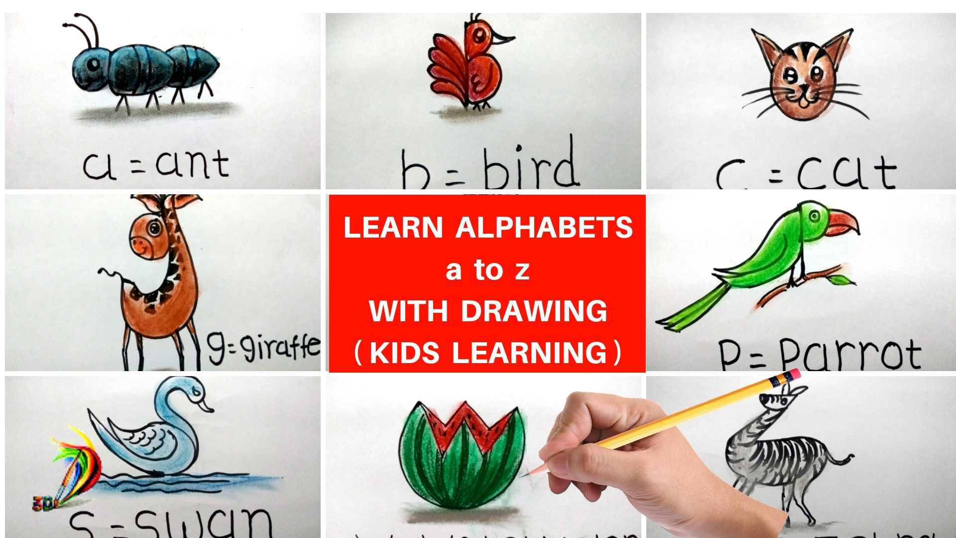 Turn Alpbhabet A To Z Into Drawing Easy Drawings For Kids Easy Drawings Creative Drawing