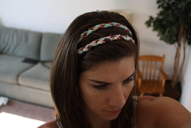 braided fabric headband | Braided fabric headbands, Diy headband, Fabric headbands