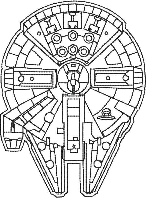 Millenium Falcon 4x4 machine embroidery design | Star wars ...