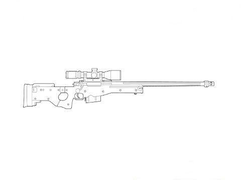 How To Draw A Hunting Rifle Hij Moet Op De Wolf Richten Ik