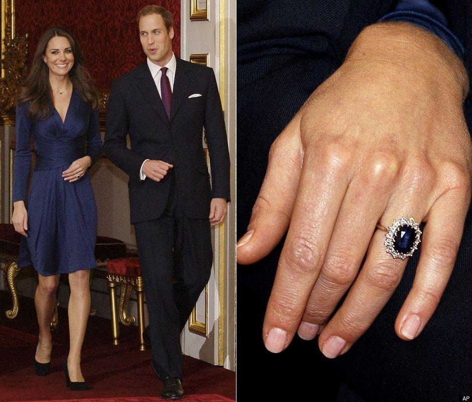 Photos Kate Middleton Debuts Dianas Engagement Ring Kate