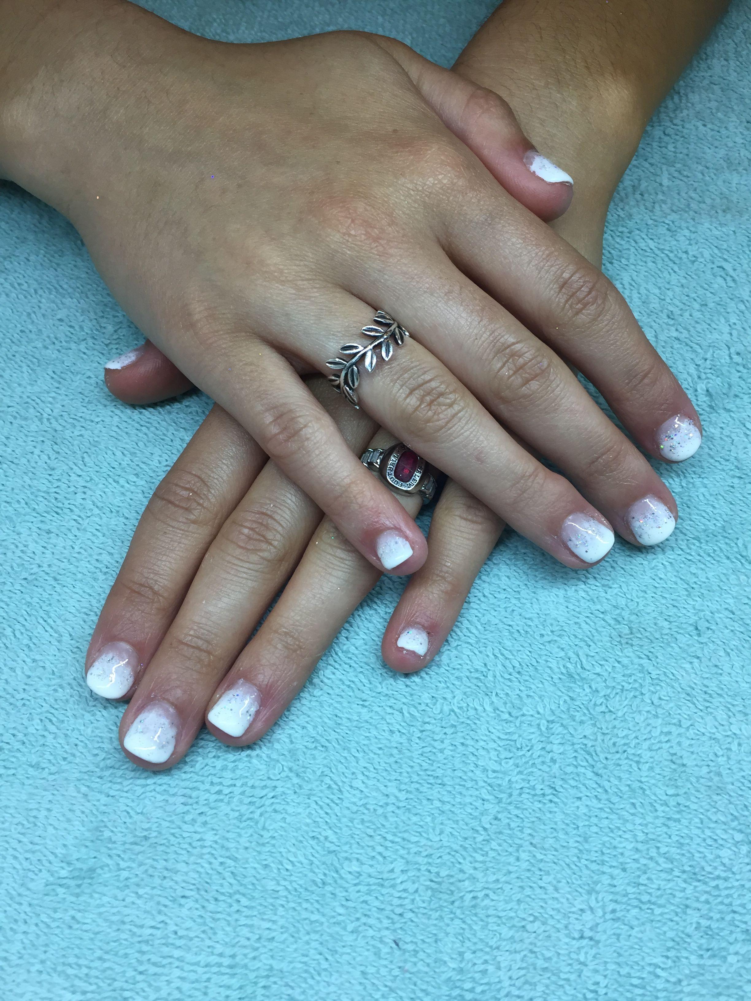 Ombré French tip design with Hologram Glitter - SHS Prom 2k17 | My ...