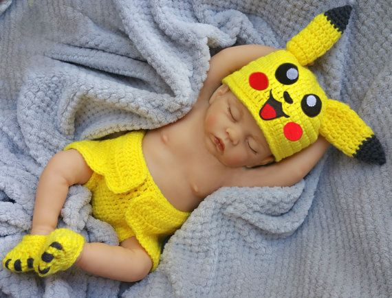 Newborn Halloween baby costume Pikachu baby Halloween by GuGaGii