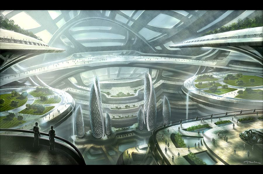 Andypark Env17 Andy Park Futuristic City Future City Environment Concept Art