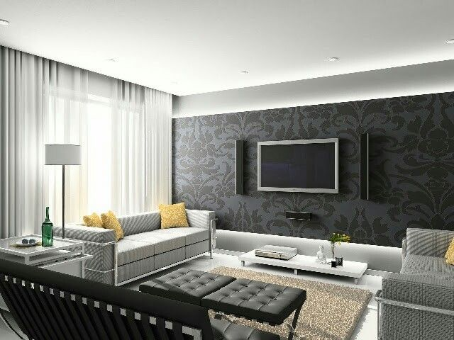Pinwaqas Ahmad On Best Ideas About Modern Tv Wall Design Fascinating Best Wall Designs For Living Room Decorating Design
