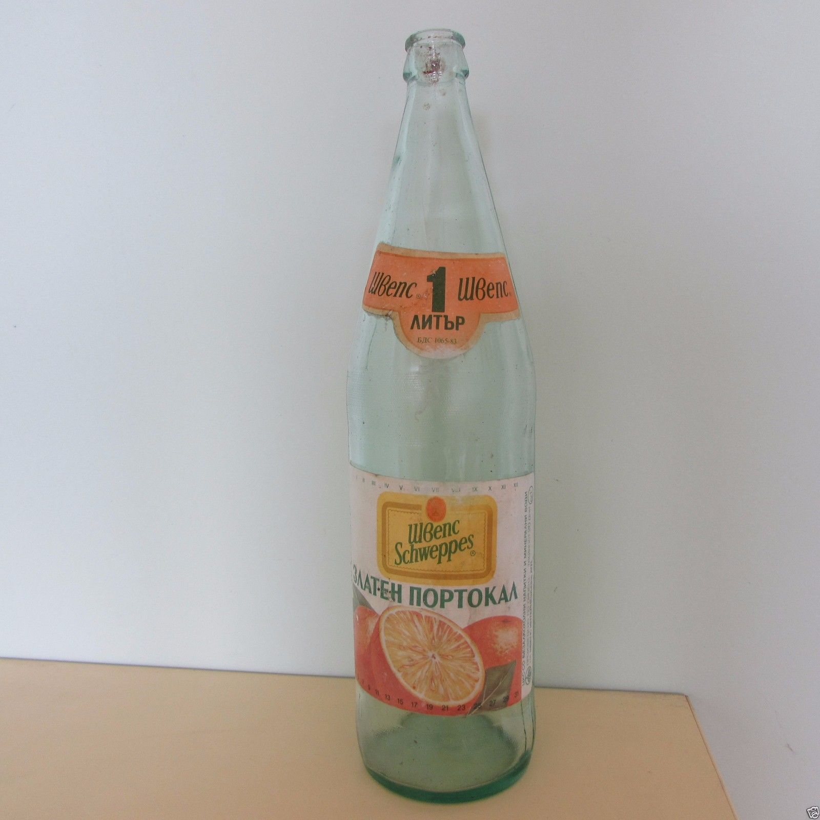Collectable Schweppes Bottle Vintage 1 Liter Bulgaria Cyrillic Letters Ultra | eBay
