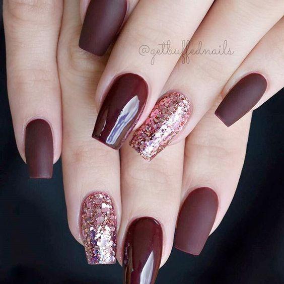 21 Stunning Burgundy Nails Designs That will Conquer Your Heart: Matte Burgundy  Nails #nails - 21 Stunning Burgundy Nails Designs That Will Conquer Your Heart
