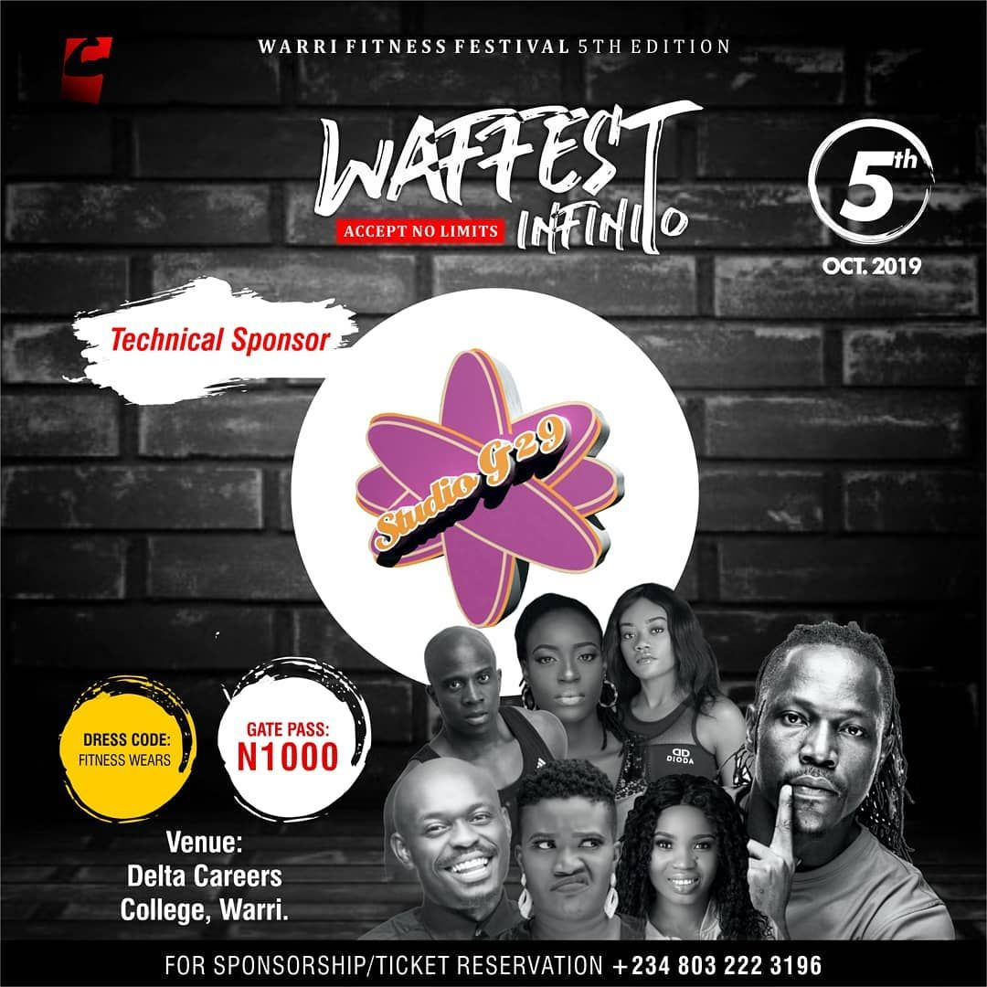 We Re Pleased To Announce G29production As Our Technical Sponsor At The Warri Fitness Festival Waffest Infinito Acc Healthy Mom Health Health Coach