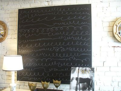 Made me think of a giant canvas as a chalk board in the kitchen... really good or really bad idea?