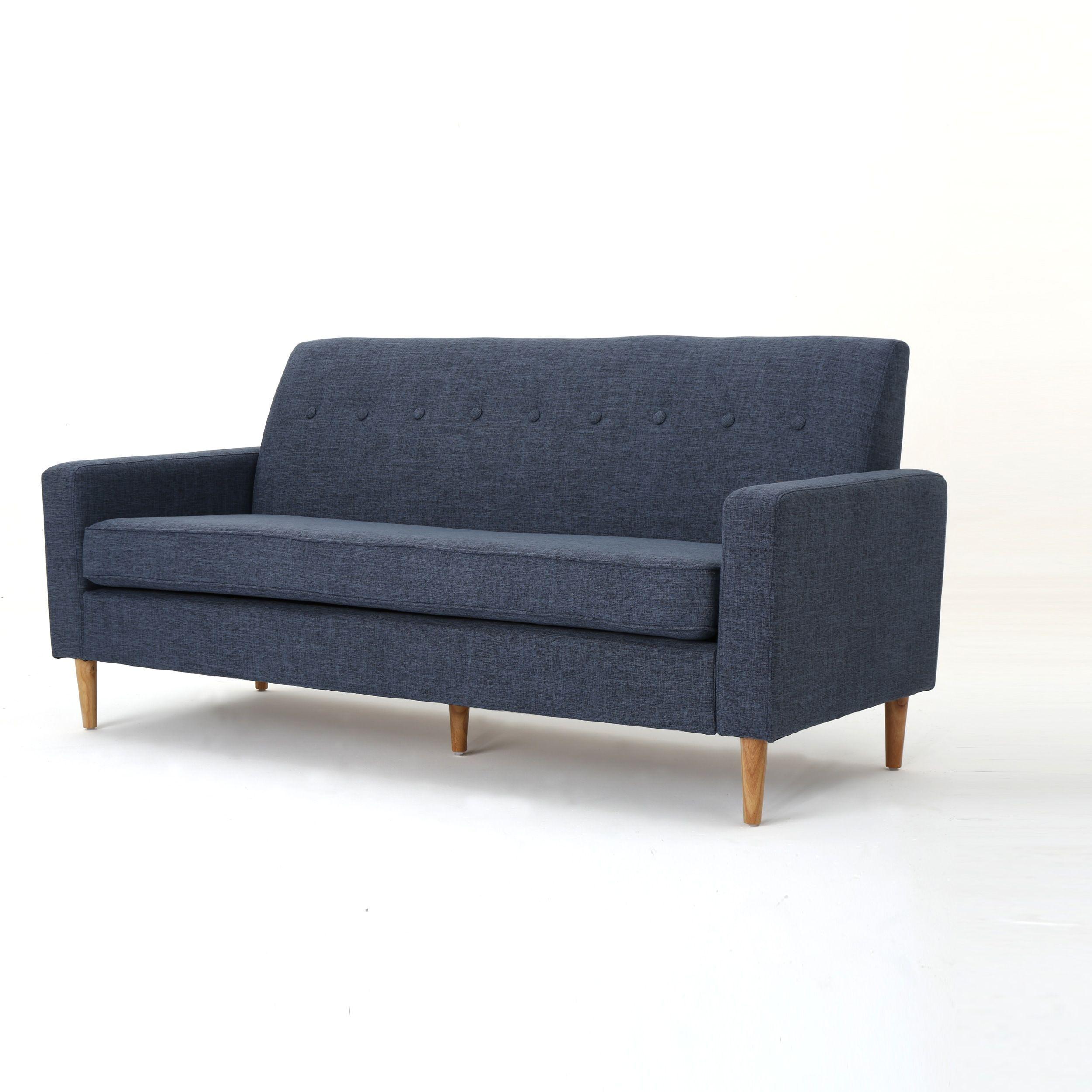 Sawyer Mid Century Modern 3-seater Fabric Sofa by ...