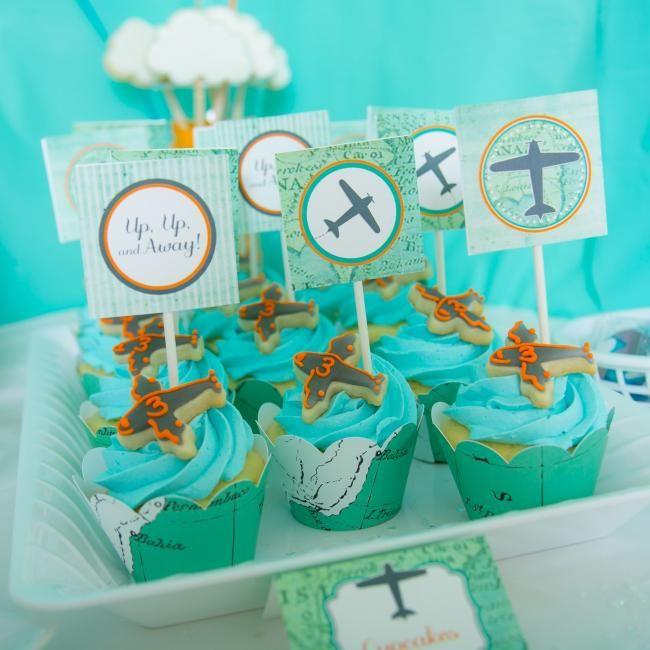 Airplane Cupcakes for Birthday Party
