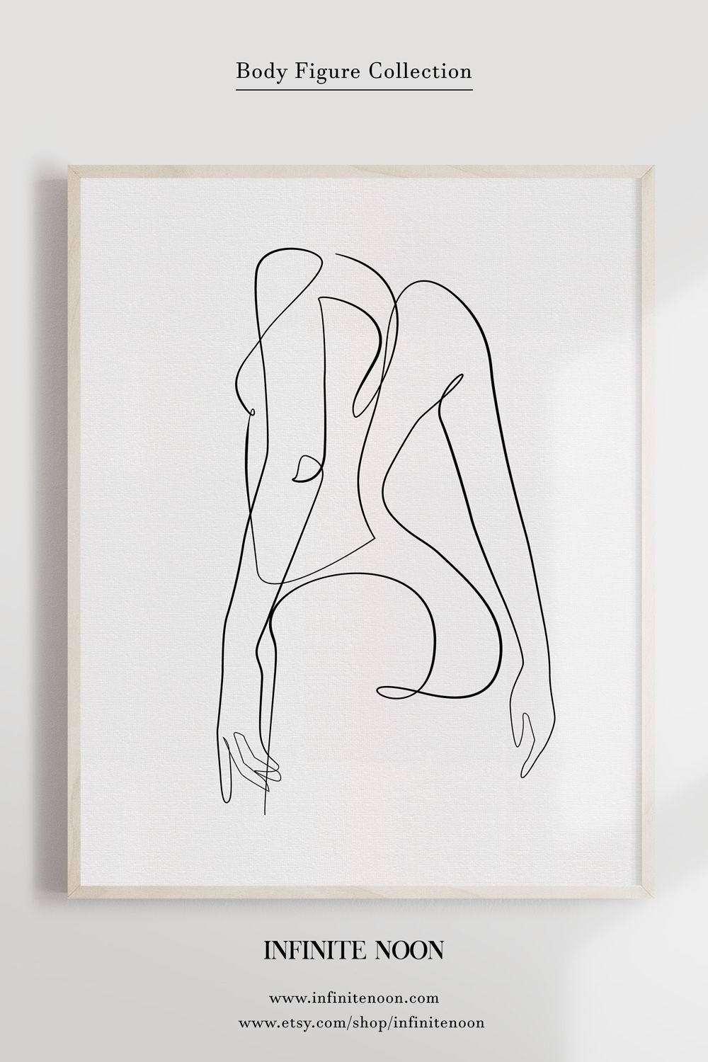 Female One Line Illustration, Minimalist Woman Drawing Print, Nude Line Art, Nudeart Printable Wall Art, Abstract Naked Back Poster, Anatomy