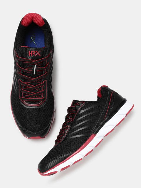 Buy HRX By Hrithik Roshan Men Black Running Shoes - - Footwear for Men